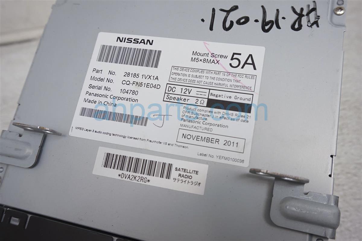 2012 Nissan Rogue Am/fm/cd Radio 28185 1VX0A Replacement