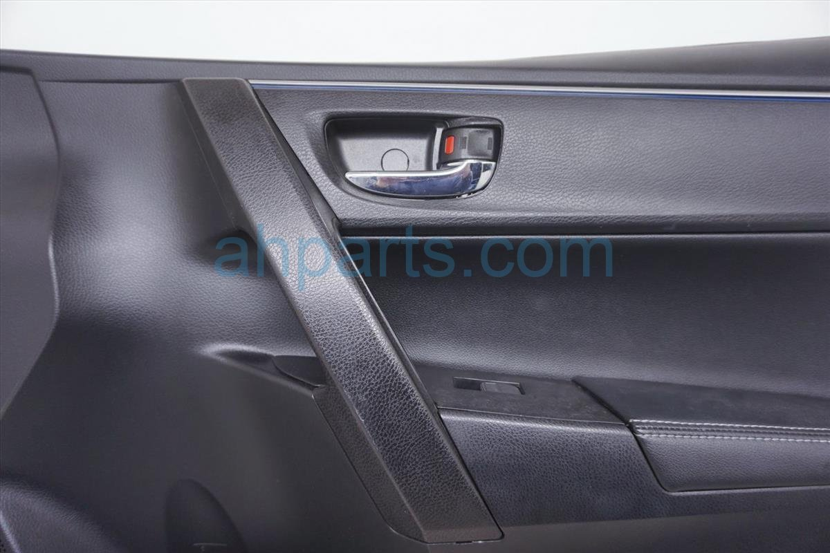 2014 Toyota Corolla Trim Liner Front Passenger Door Panel Black W/blue Stripe 67610 02R42 C4 Replacement