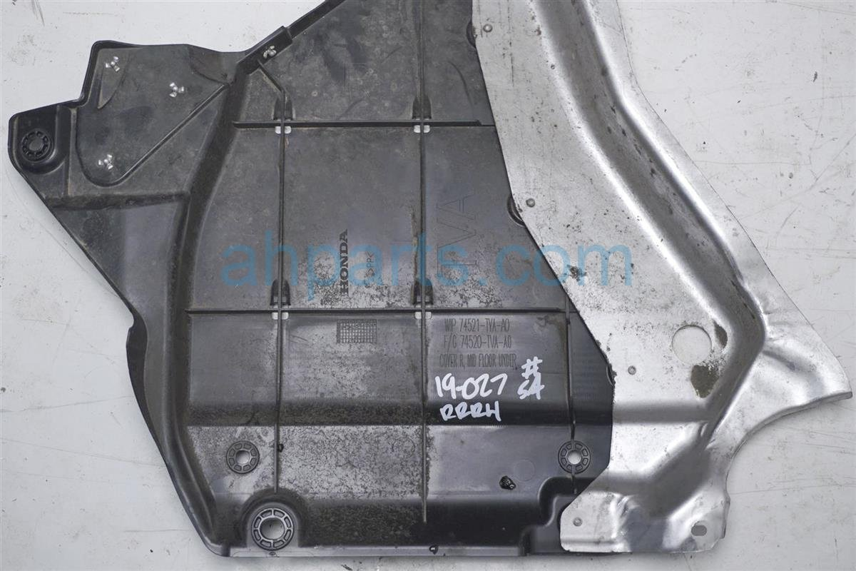 2018 Honda Accord Rear Passenger Under Body Cover 74520 TVA A00 Replacement
