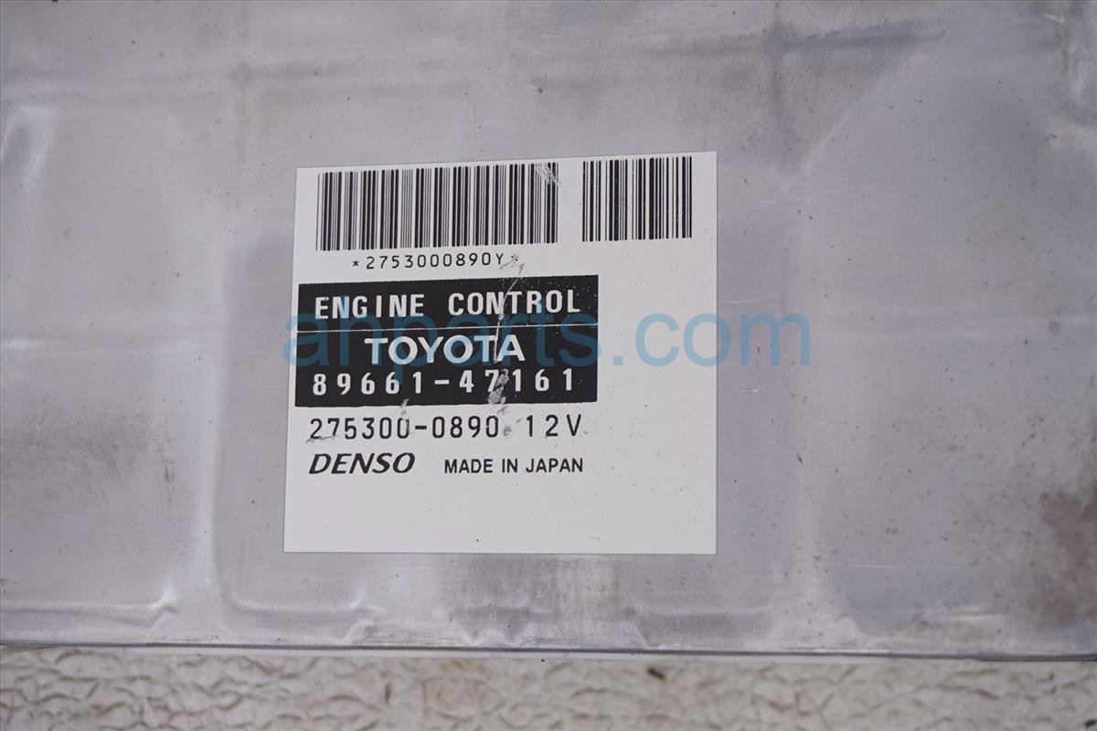 2007 Toyota Prius Ecu Control Module / Engine Computer   At 89661 47161 Replacement