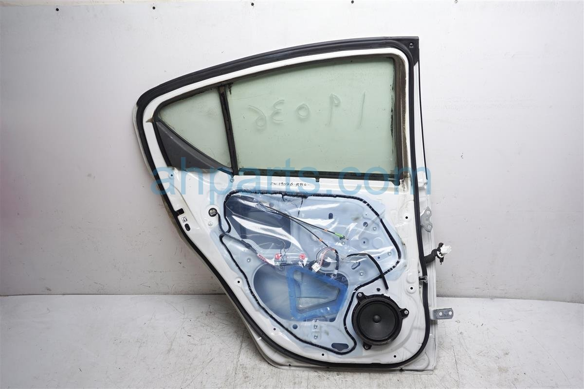 2016 Toyota Prius Rear Driver Door No Trim Panel   White 67004 52510 Replacement