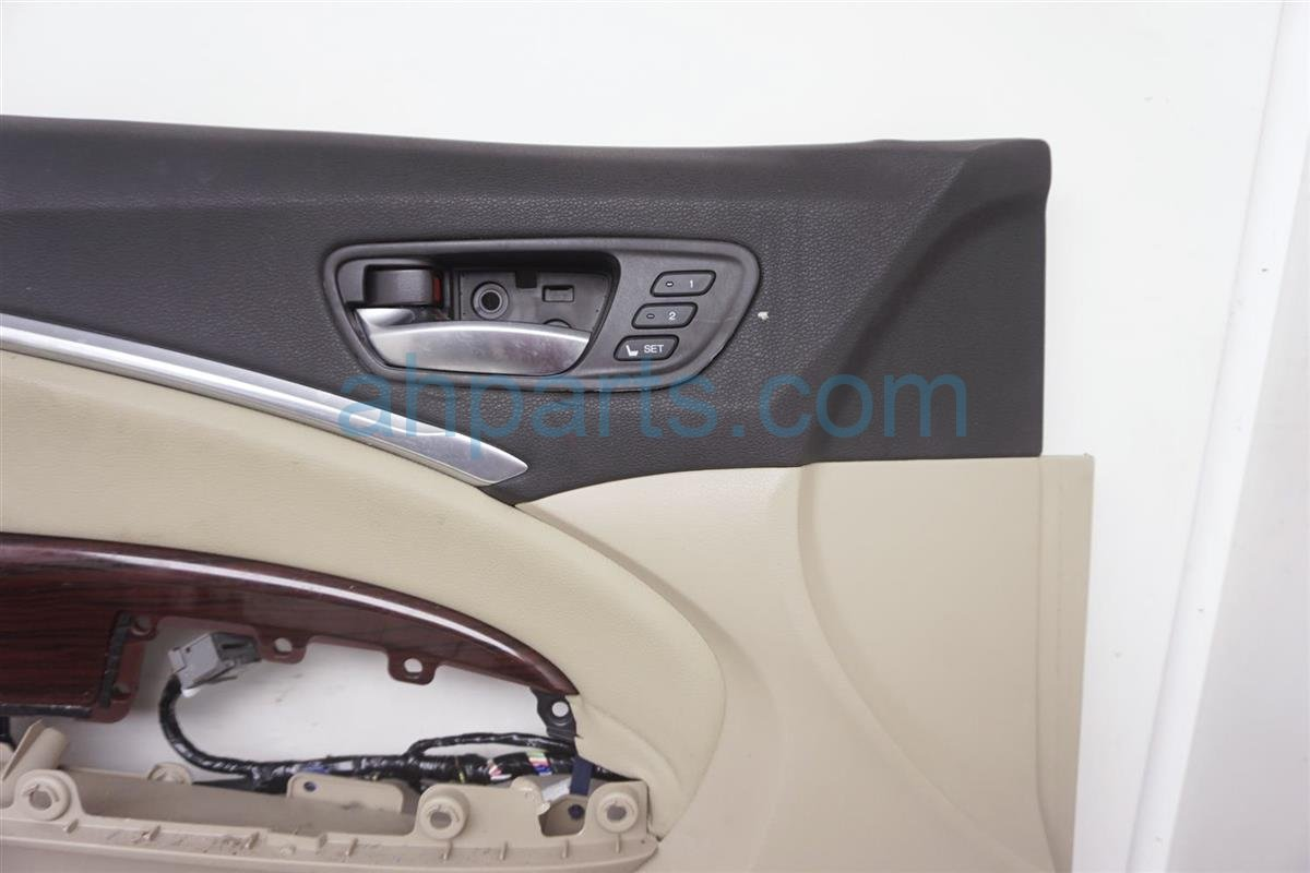 2014 Acura MDX Trim / Liner Front Driver Door Panel No Switch Tan 83551 TZ5 A01ZA Replacement