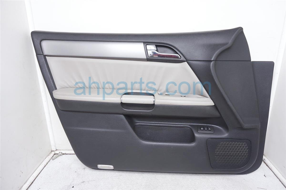 2007 Infiniti M45 Trim Liner Front Driver Door Panel Gray/black W/memory 80901 EH213 Replacement