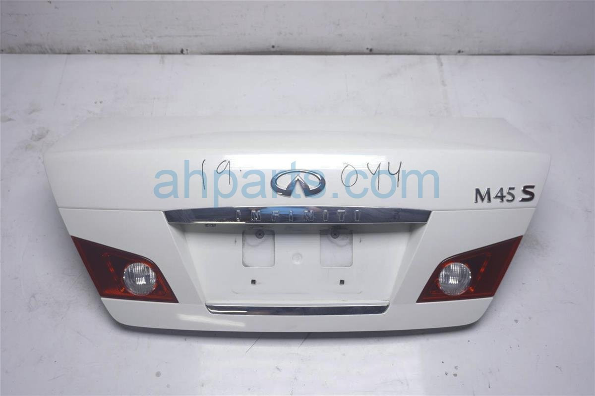 2007 Infiniti M45 Deck Lid/rear Trunk White H4300 EH1MA Replacement