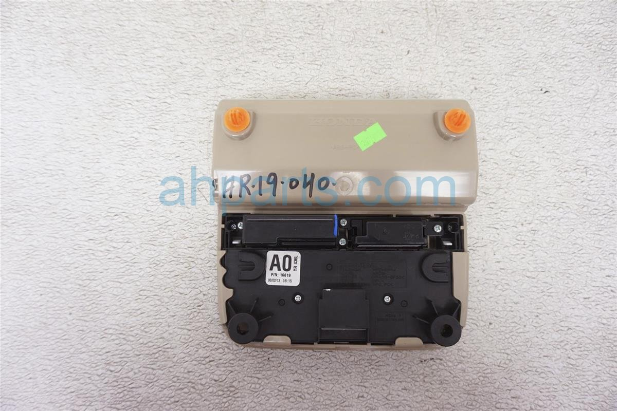 2014 Acura MDX Map Light / Roof Console   Tan 83250 TX4 A01ZA Replacement