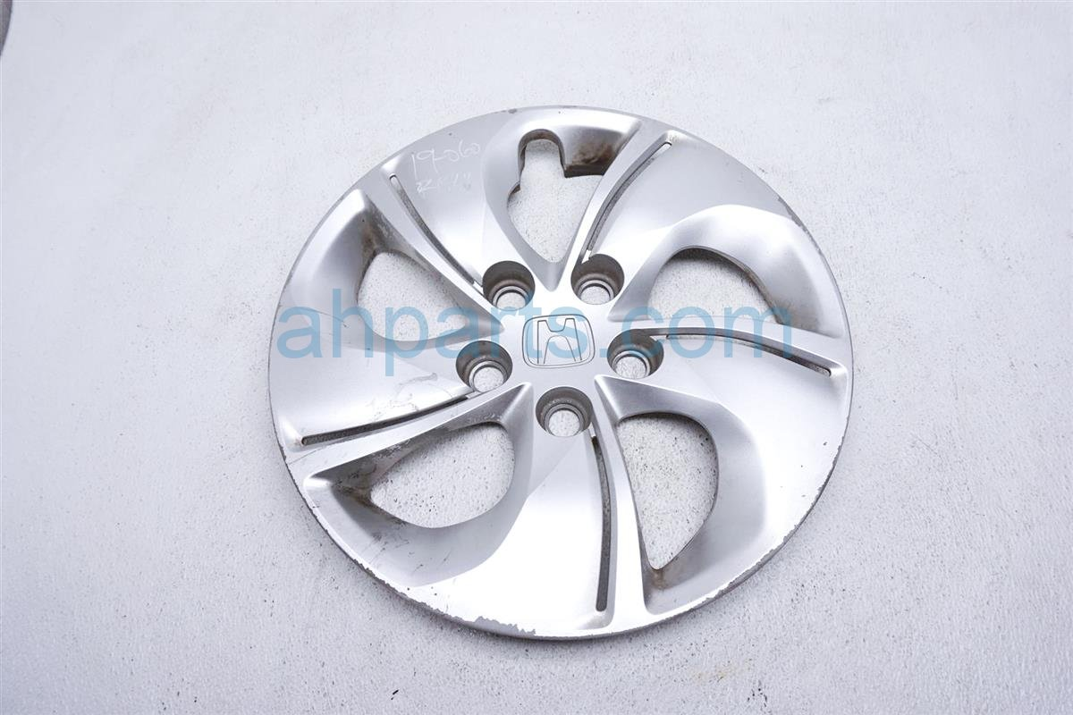 2013 Honda Civic Wheel Cover / Rear Driver Twisted Hub Cap   Silver Replacement