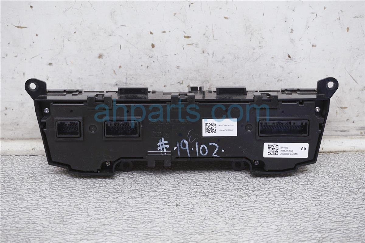 2018 Honda Odyssey Temperature Climate / Heater Ac Control (on Dash) 79600 THR A52ZB Replacement