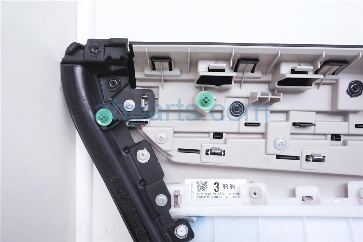 2018 Honda Accord Rear Passenger Door Panel Trim Liner   Black 83700 TVA A04ZA Replacement