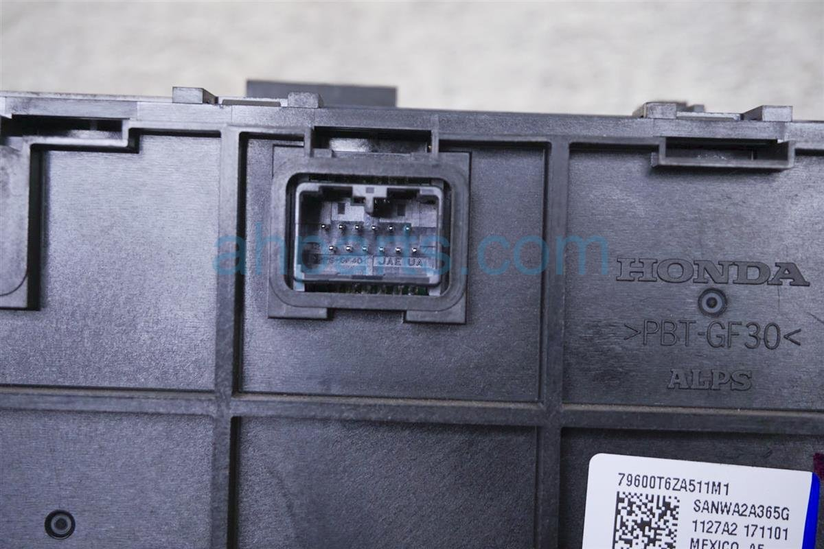 2017 Honda Ridgeline Temperature Climate Control Ac / Heater Contorl (on Dash) 79600 T6Z A51 Replacement