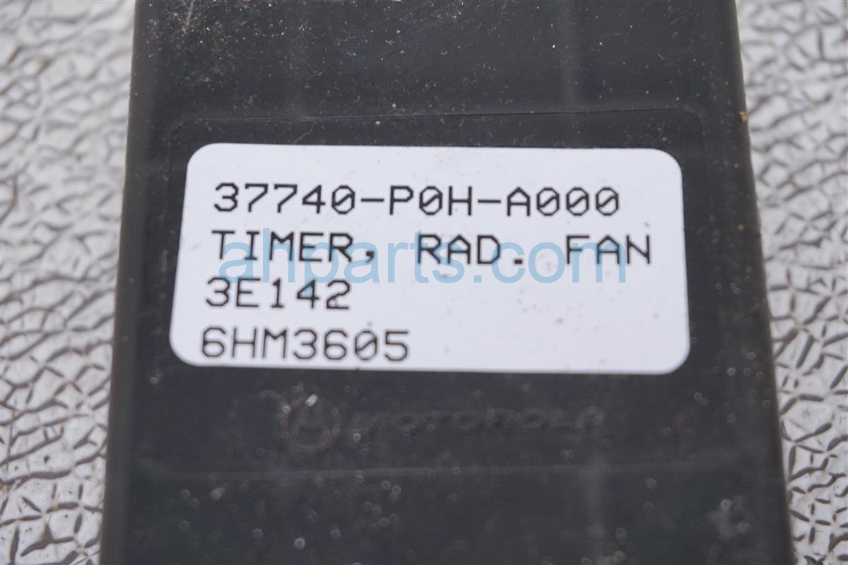 2003 Acura TL Radiator Fan Timer Control Unit 37740 P0H A02 Replacement