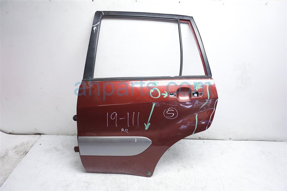 2005 Toyota Rav 4 Rear Driver Door   Red   See 67004 42070 Replacement