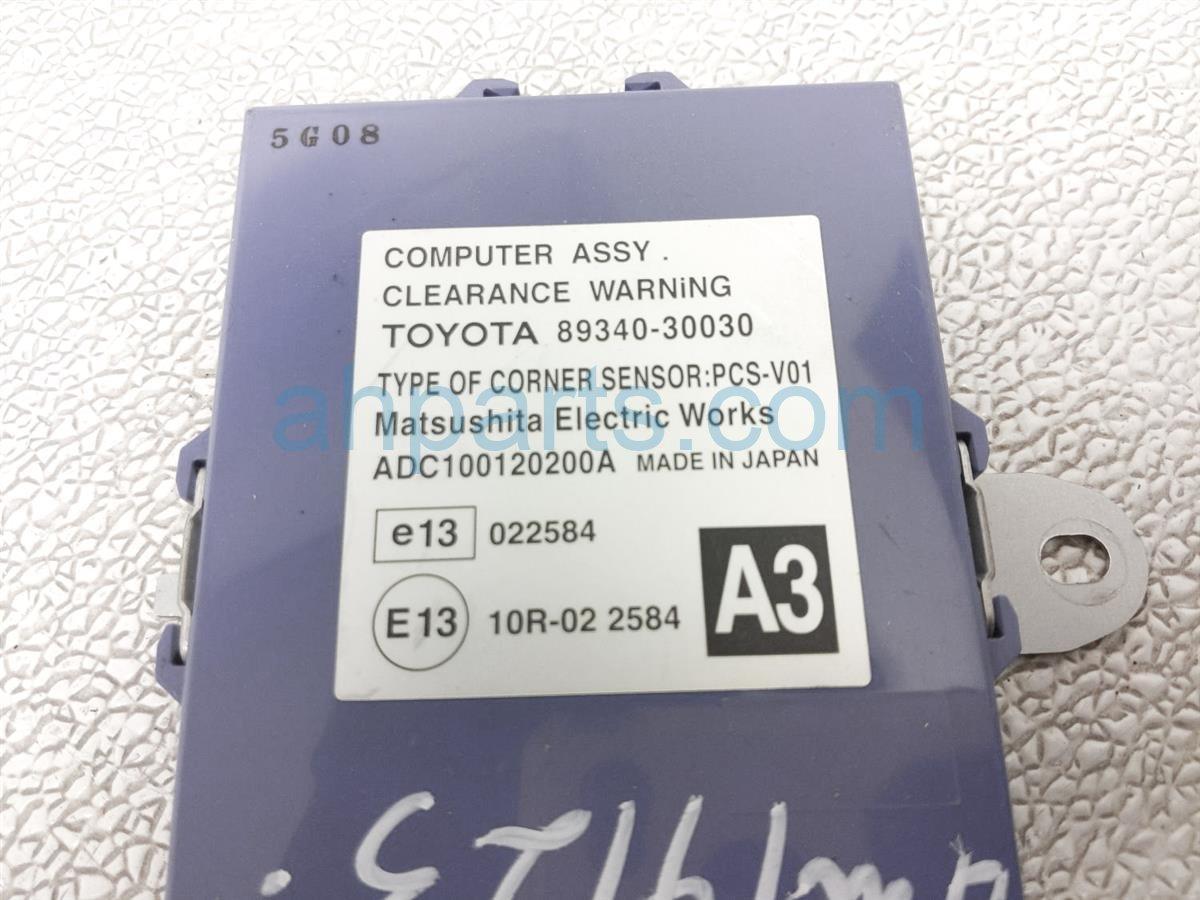 2006 Lexus Gs300 Computer Assy Corner Sensor 89340 30031 Replacement