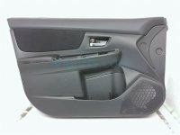 $110 Subaru FR/L DOOR PANEL BLK, NO WINDOW SWTCH
