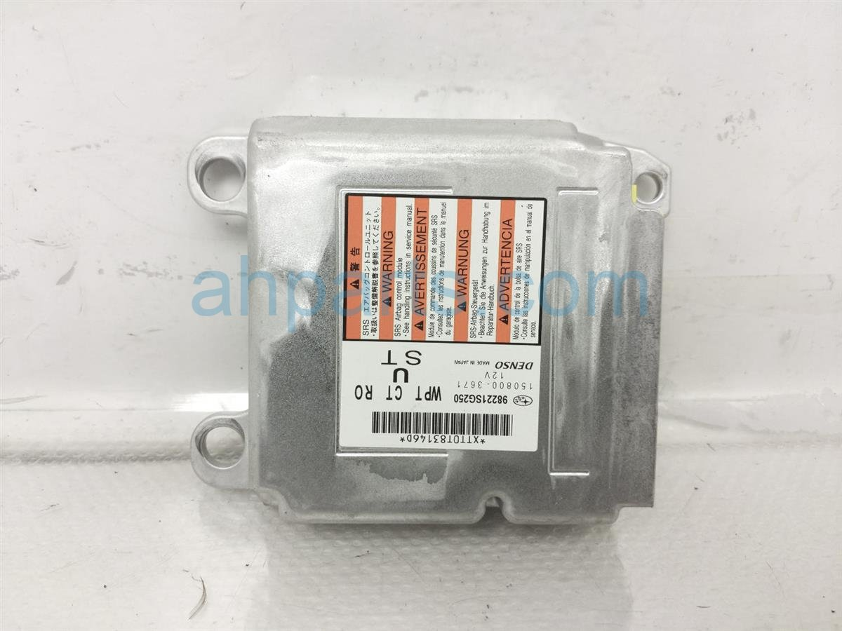 2017 Subaru Forester Srs Airbag Computer Module   Blown 98221SG250 Replacement