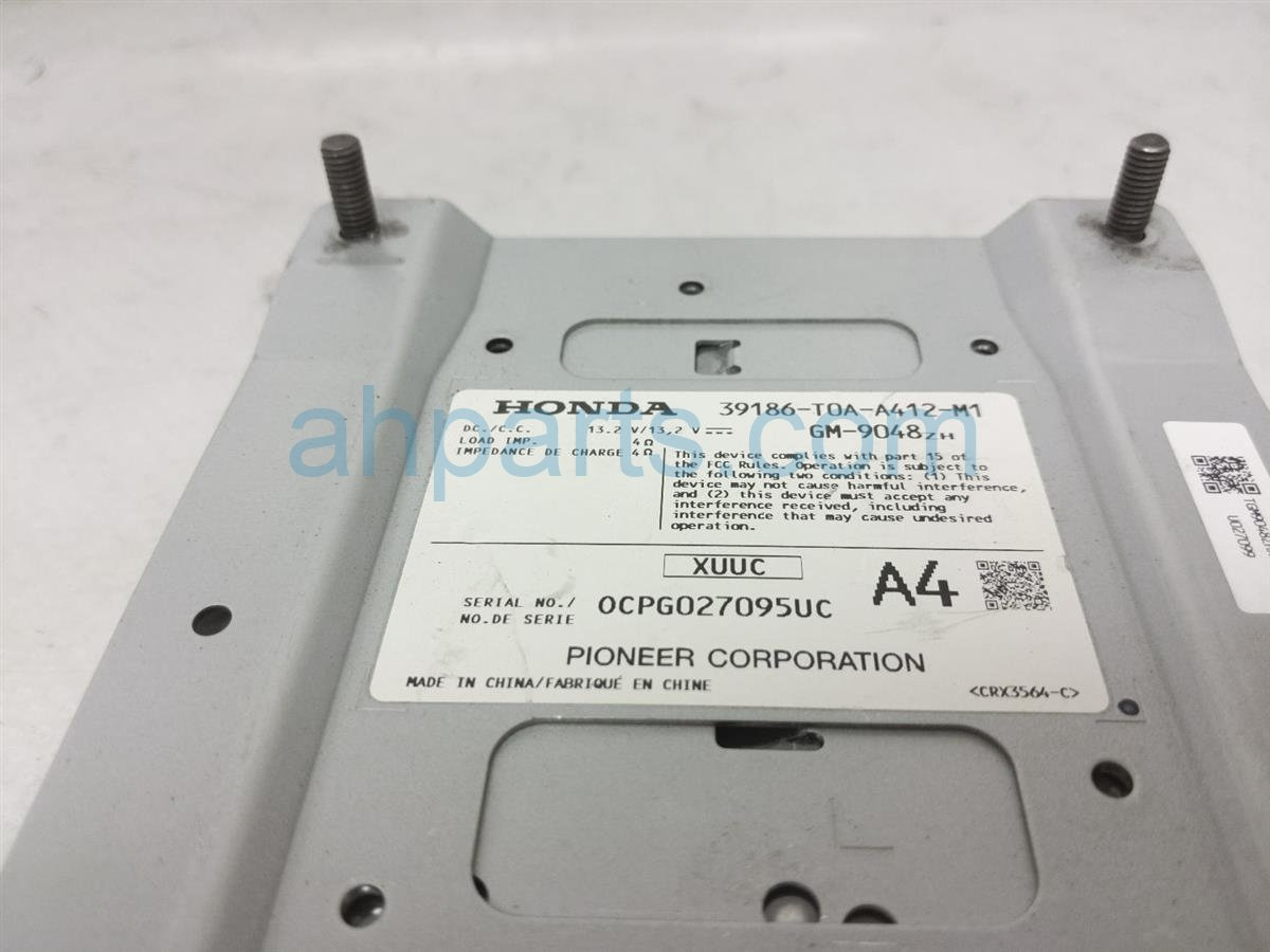2015 Honda CR V Audio Amplifier 39186 T0A A41 Replacement