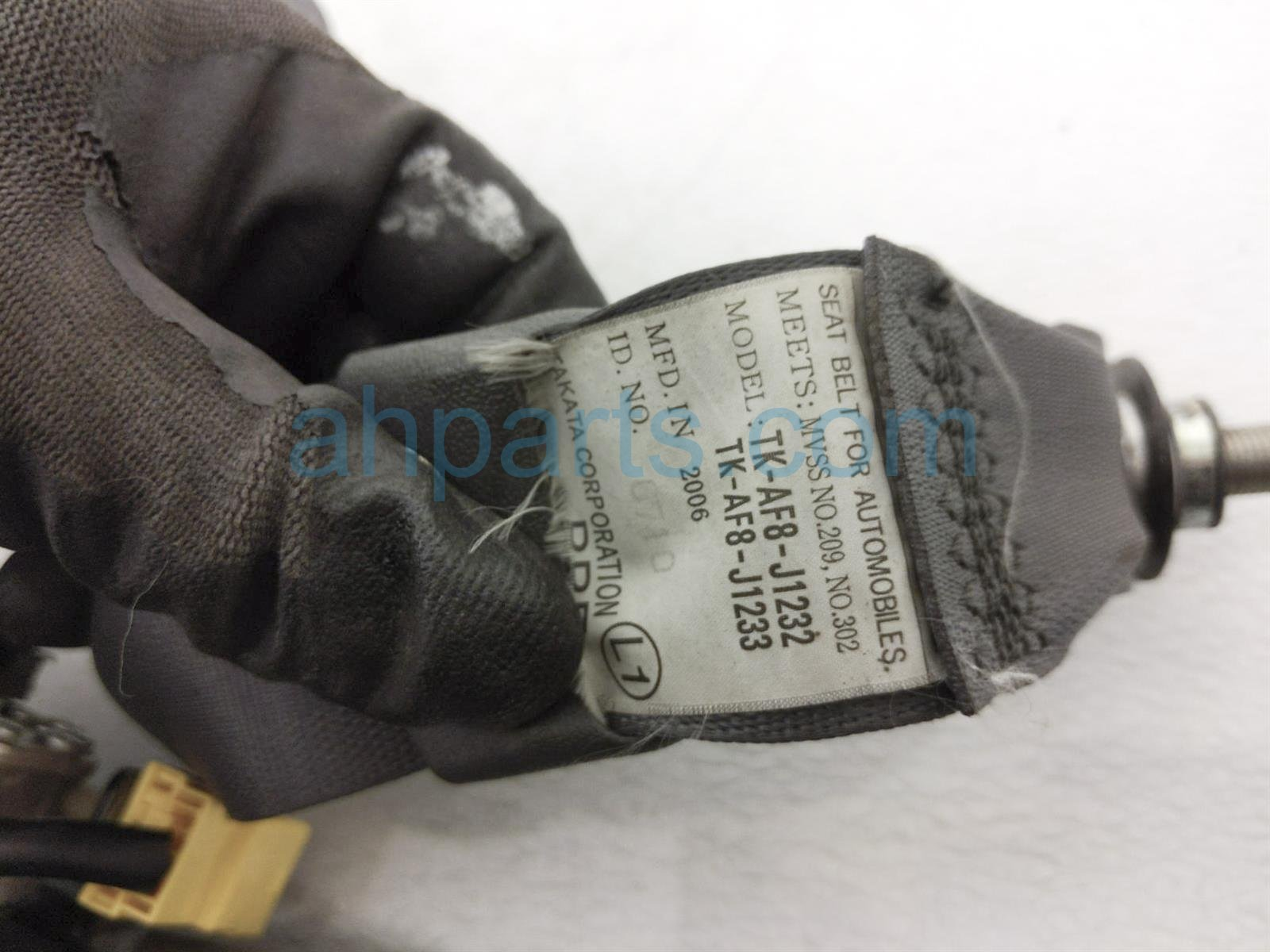 2007 Honda Accord Front Driver Seat Belt   Grey 04818 SDA A03ZB Replacement