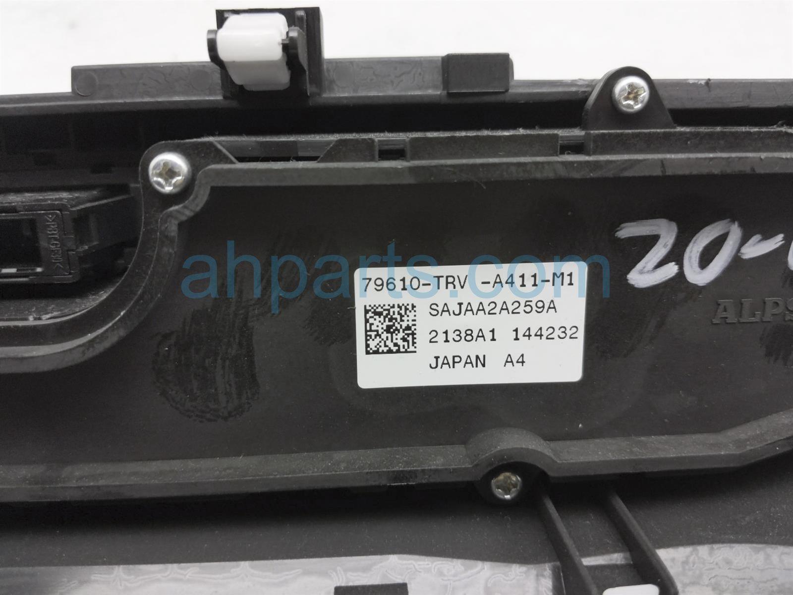 2018 Honda Clarity Temperature Climate Heater/ac Control(on Dash) 79611 TRT E41ZA Replacement