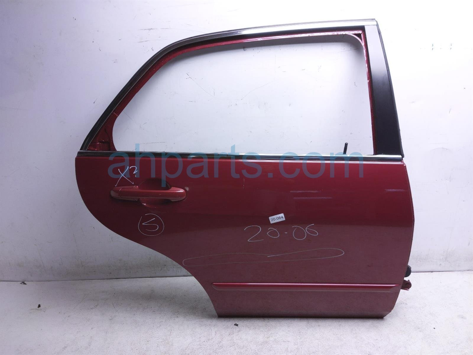 2007 Honda Accord Rear Passenger Door Shell   Red 67510 SDA A80ZZ Replacement