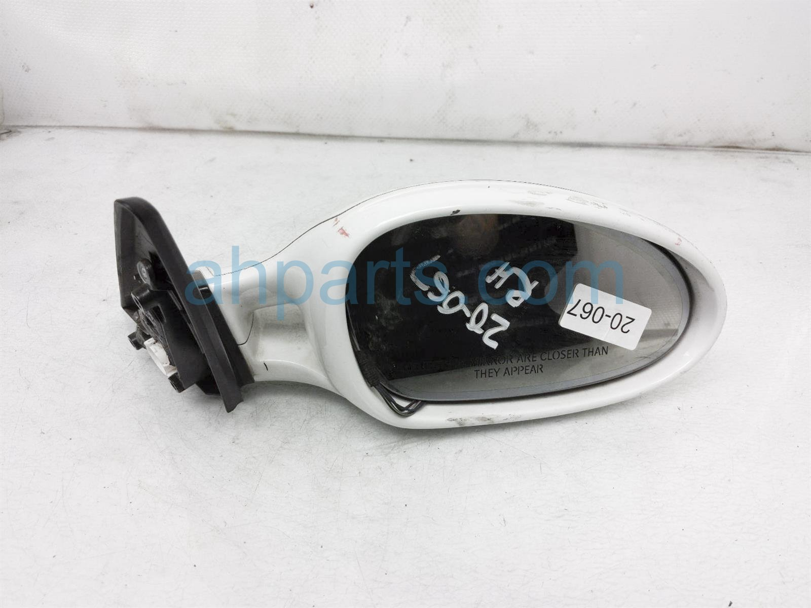 2011 Porsche Cayman Rear Passenger Side View Mirror   White 997 731 620 02 G2L Replacement