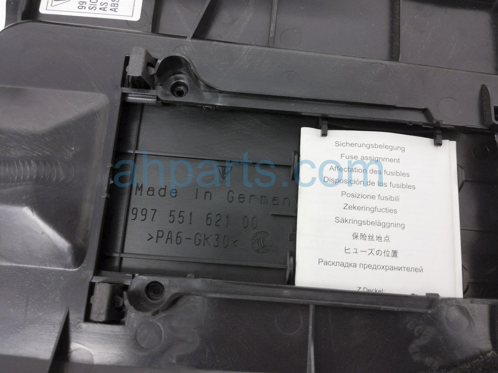 2011 Porsche Cayman Front Door Trim / Liner Driver Kick Panel Cover   Black 997 551 101 00 A10 Replacement