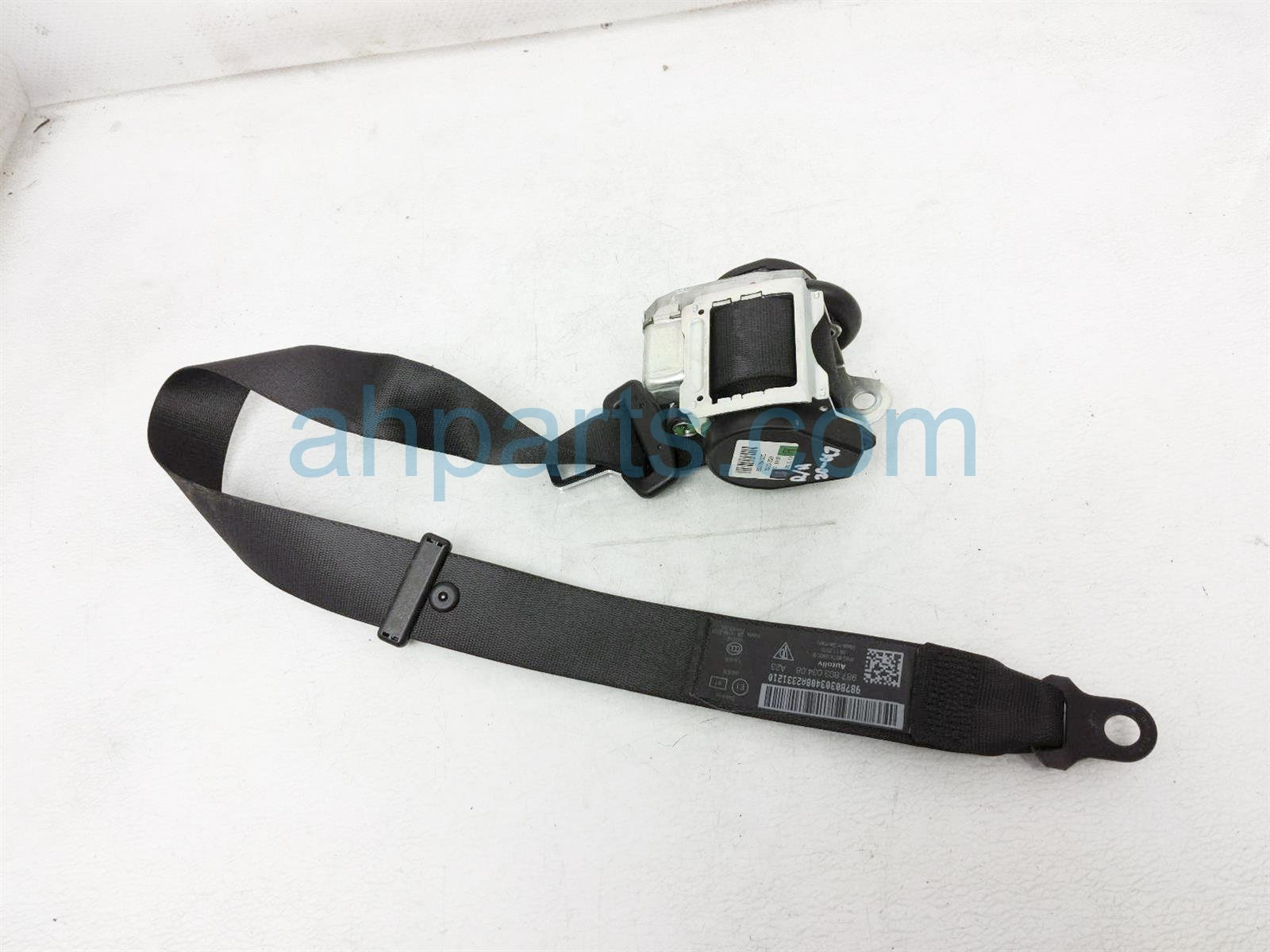 Sold 2011 Porsche Cayman Passenger Seat Belt   Black 987 803 034 08 A23 Replacement
