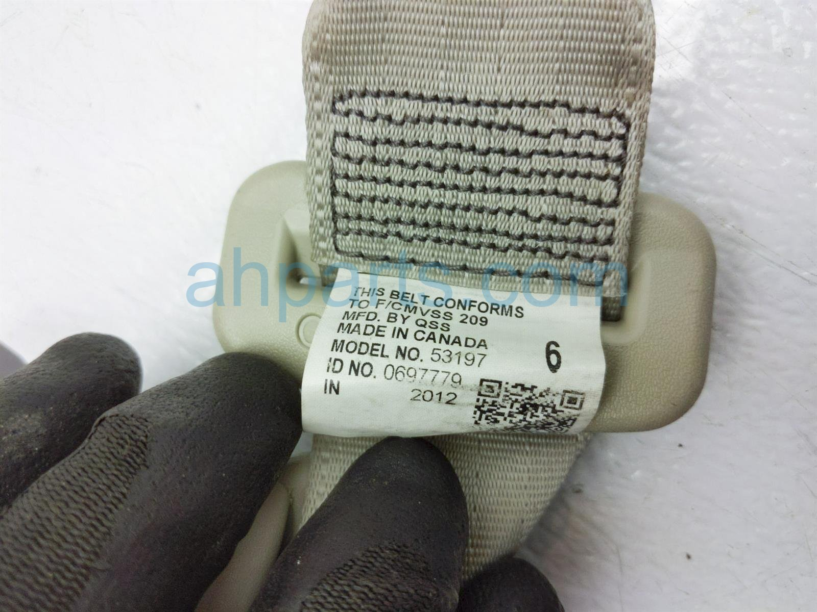 2013 Toyota Sienna Rear 3rd Row Driver Seat Belt   Tan 73570 08030 B2 Replacement