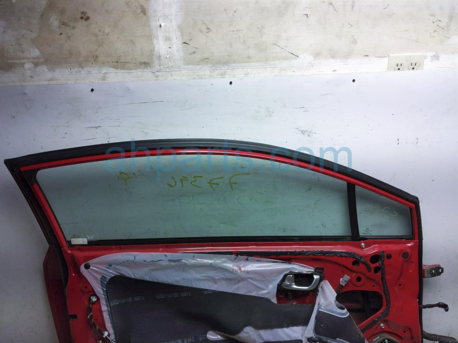 2012 Honda Civic Front Driver Door   Red   No Mirror/trim 67050 TS8 A91ZZ Replacement