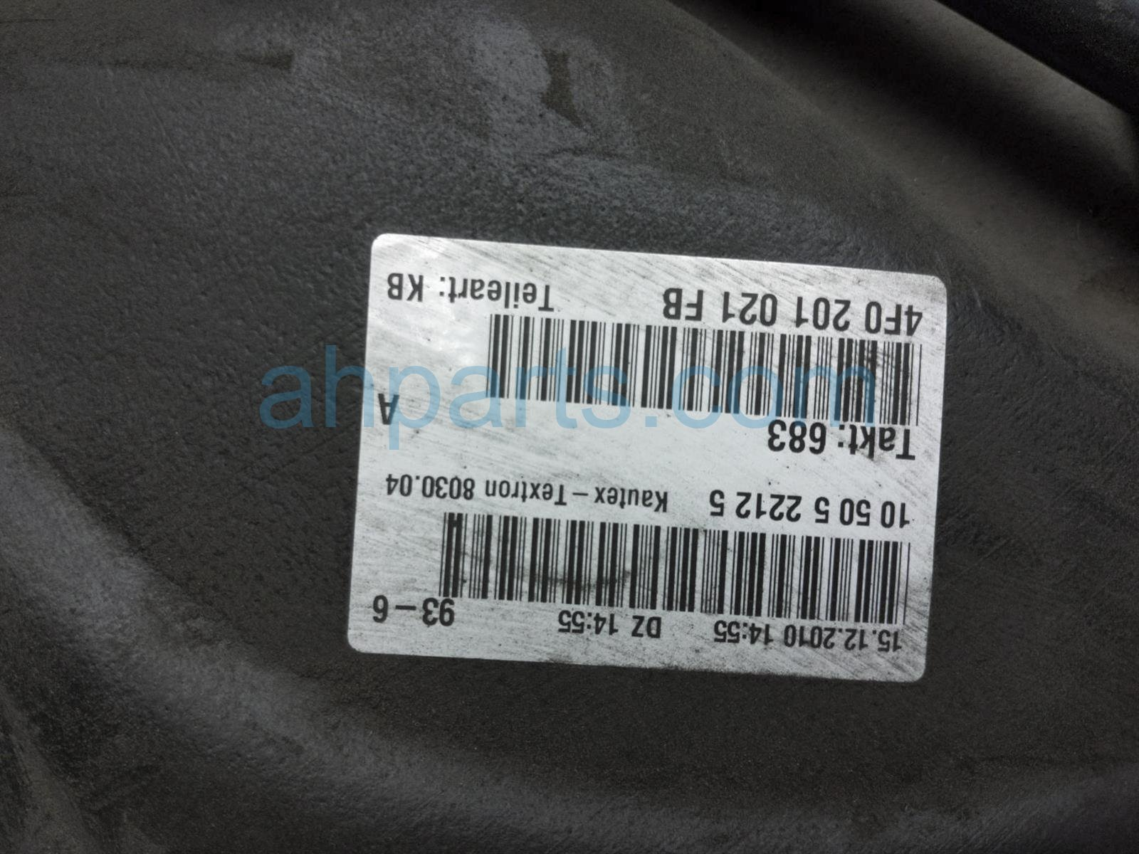 2011 Audi A6 Audi Gas / Fuel Tank 4F0 201 060 S Replacement