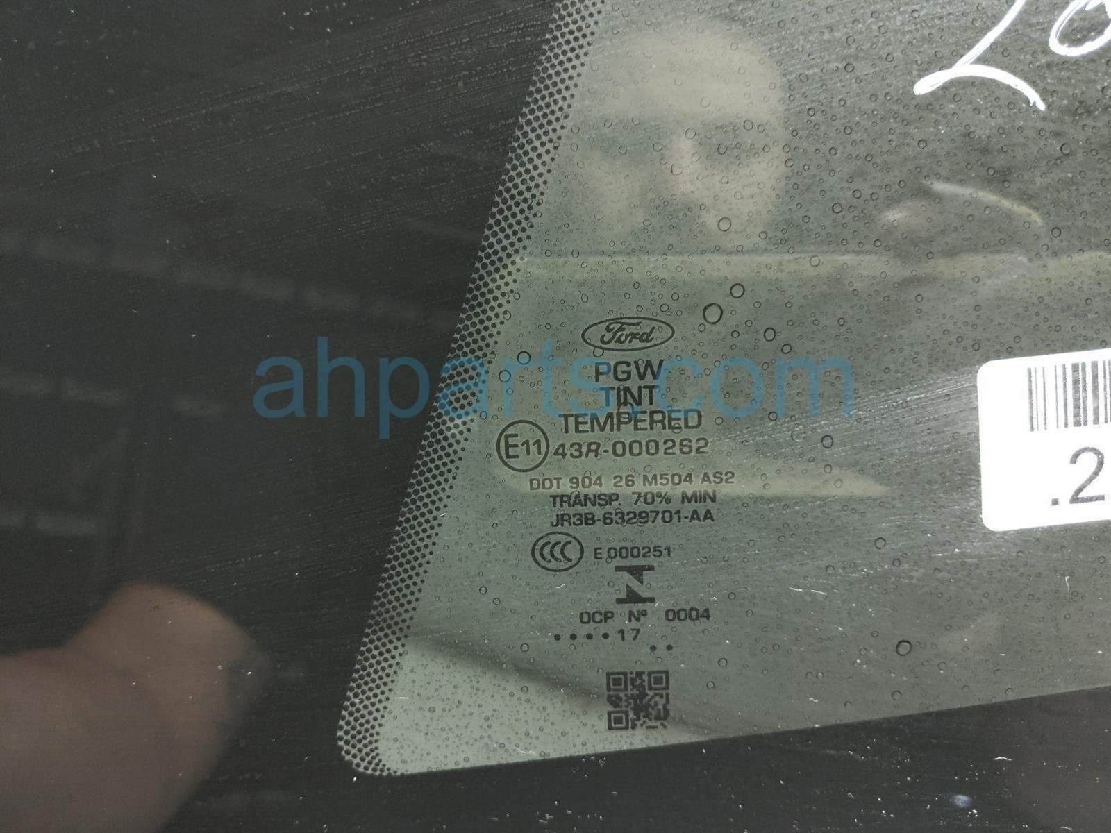 2017 Ford Mustang Driver Quarter Window Glass JR3Z 6329711 A Replacement