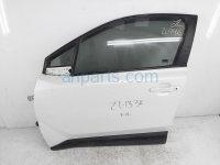$825 Toyota FR/LH DOOR - WHITE - NO MIRROR/TRIM