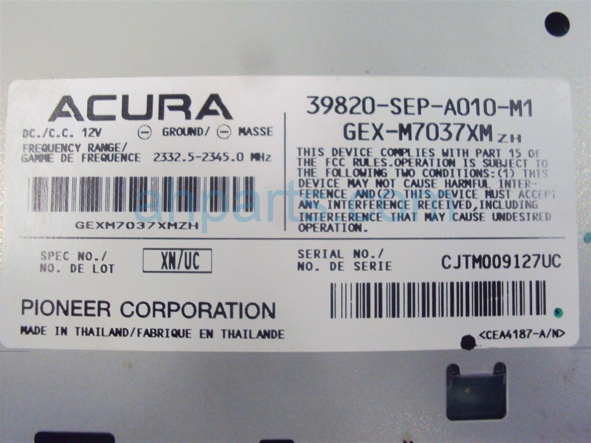 2004 Acura TL Xm Unit 39820 SEP A01 Replacement