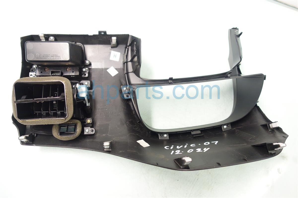 2006 Honda Civic SPEEDO BEZEL DARK GREY 77222 SNA A02ZA 77222SNAA02ZA Replacement