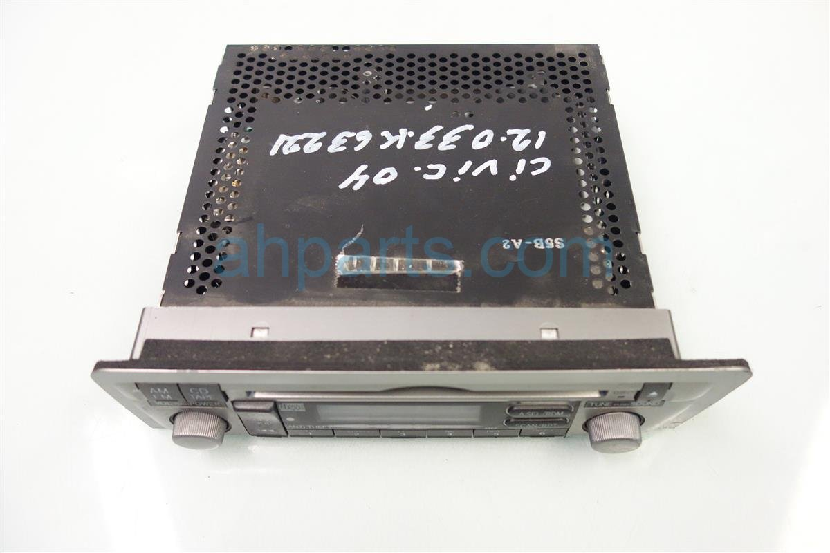 2004 Honda Civic Am/fm/cd Radio 39100 S5B A20ZA Replacement