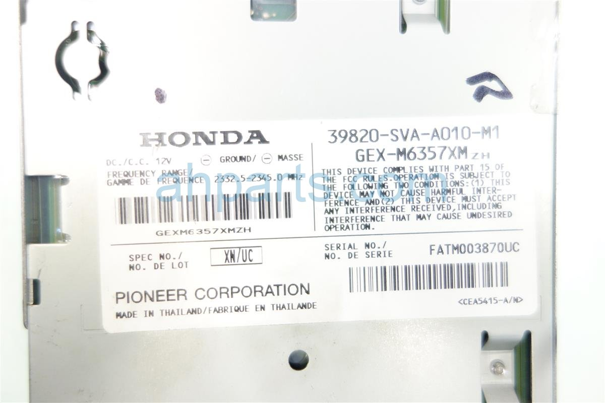 2006 Honda Civic Xm Unit 39820 SVA A01 Replacement