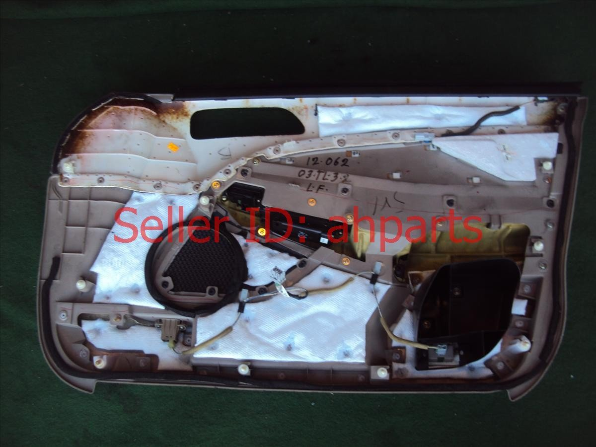 2003 Acura TL Door Trim / Liner Front Driver Dr Panel Cmplet Tan Type S Note 83583 S0K A40ZA Replacement