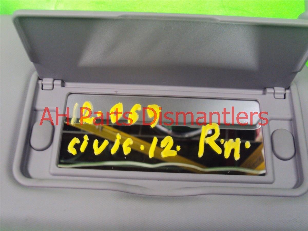 2012 Honda Civic Sun Passenger VISOR GRAY Replacement