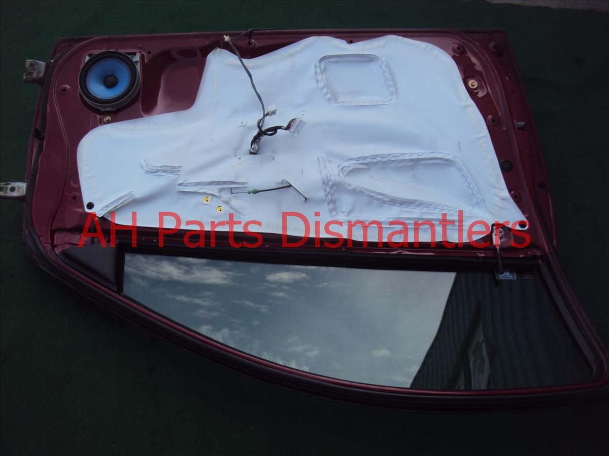 2004 Honda Accord Front Driver Door,cmplet  mirr/trim Red 32751 SDN A00 Replacement