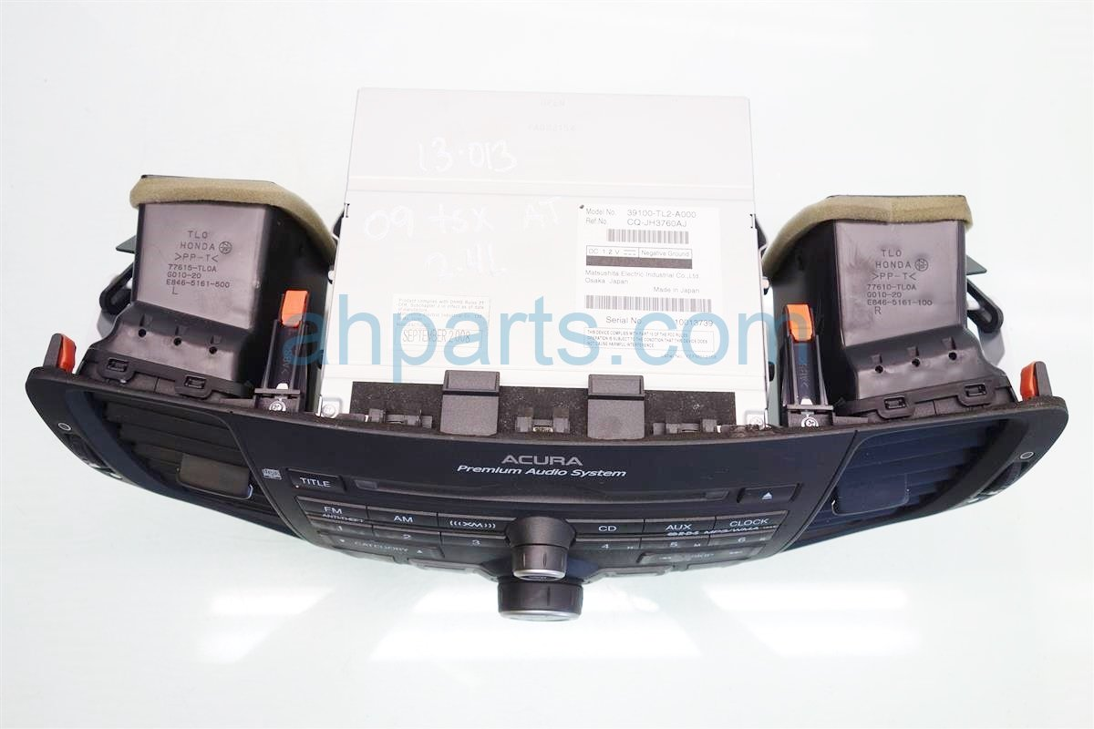 2009 Acura TSX AM FM CD RADIO single disc 39106 TL2 A01ZA 39106TL2A01ZA Replacement