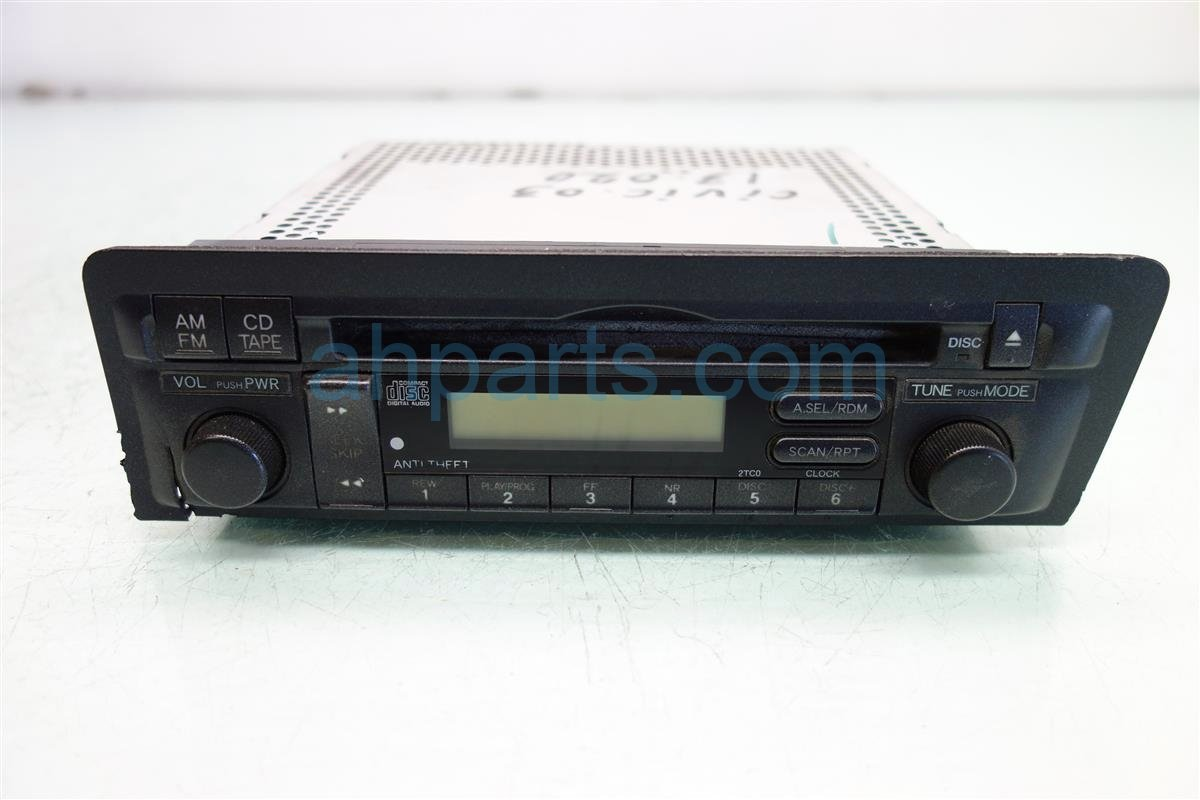 2003 Honda Civic AM FM CD RADIO 2TC0 39100 S5P A50ZA 39100S5PA50ZA Replacement
