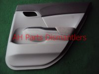 2012 Honda Civic Door trim liner Rear passenger DR PANEL CMPLET 83700 TR0 A11ZA 83700TR0A11ZA Replacement