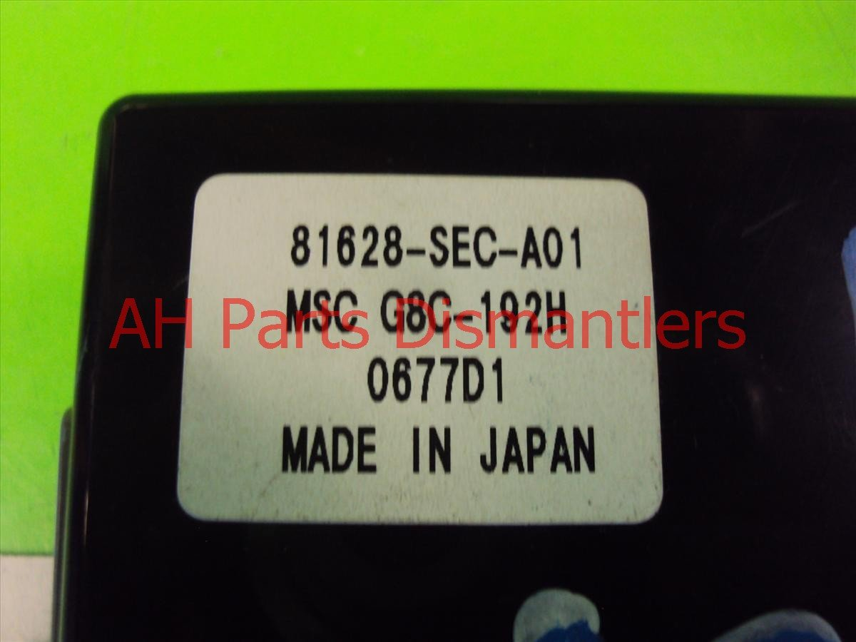 2008 Acura TSX M S C UNIT 81628 SEC A01 81628SECA01 Replacement