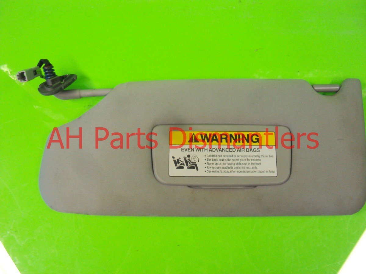 2006 Honda Accord Driver SUN VISOR gray cloth Replacement
