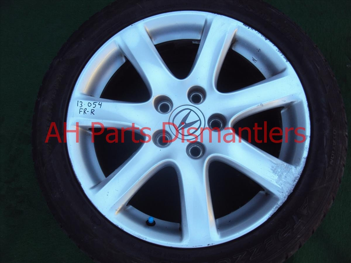 2005 Acura TSX Wheel Front passenger RIM heavy curb dmg Replacement