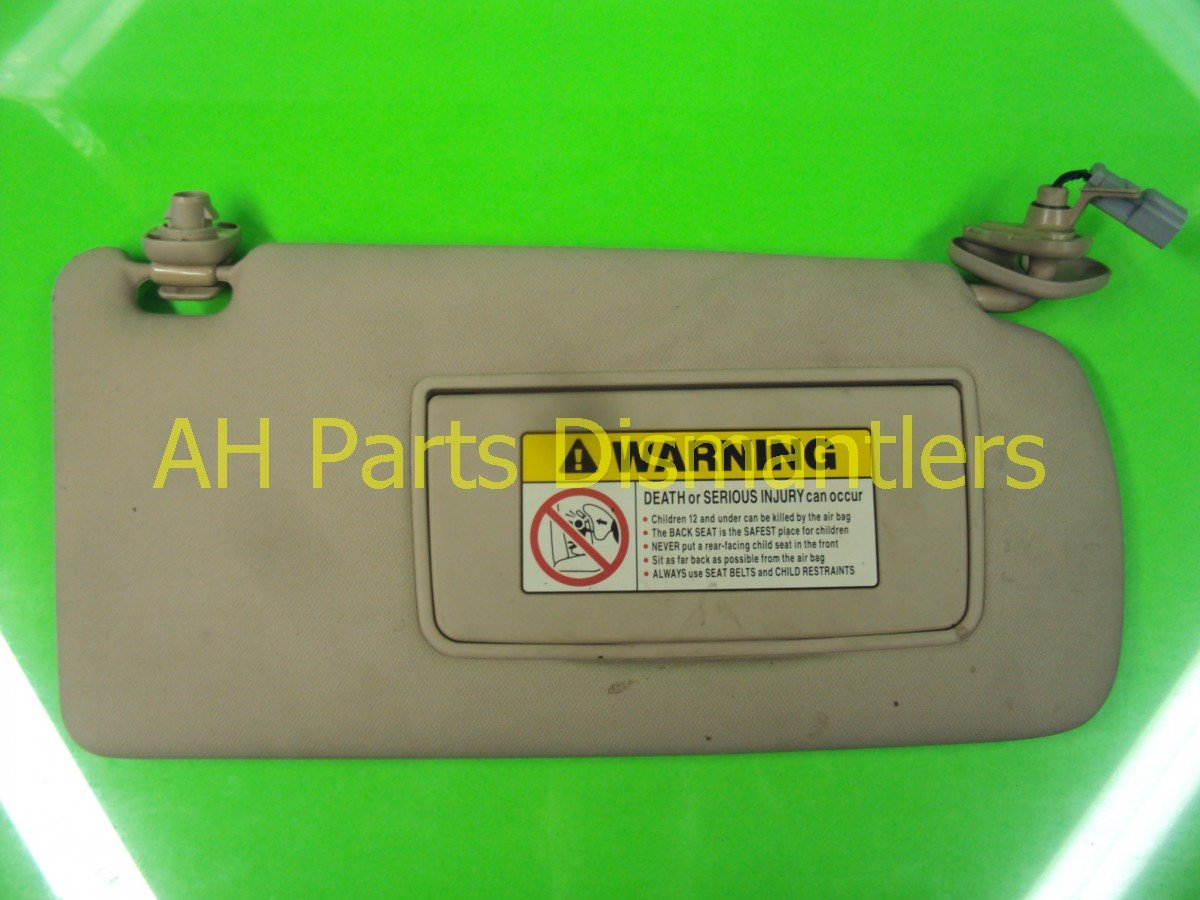 2004 Acura TSX Passenger SUN VISOR slight sag tan 83230 SEC A81ZC 83230SECA81ZC Replacement