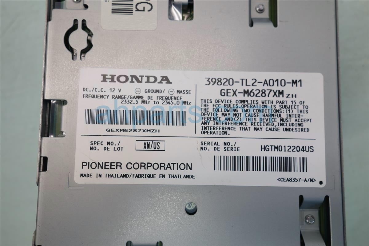 2009 Acura TSX XM UNIT 39820 TL2 A01 39820TL2A01 Replacement
