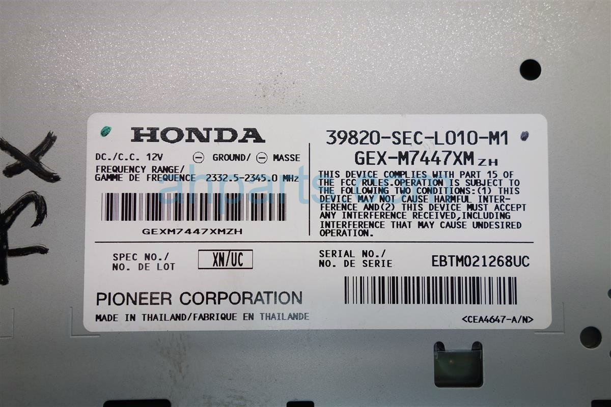 2005 Acura TSX XM UNIT 39820 SEC L01 39820SECL01 Replacement