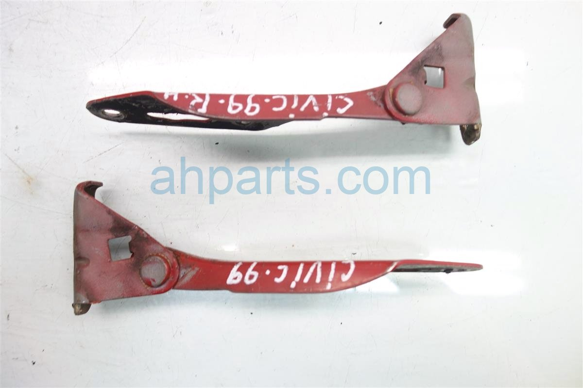 2000 Honda Civic Driver Passenger HOOD HINGE RED Replacement