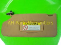 2007 Acura TL Driver Sun Visor, Tan Stays Up 83280 SEP A02ZC Replacement
