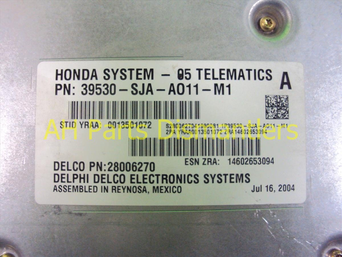 2005 Acura RL Telematics Unit 39530 SJA A01 Replacement