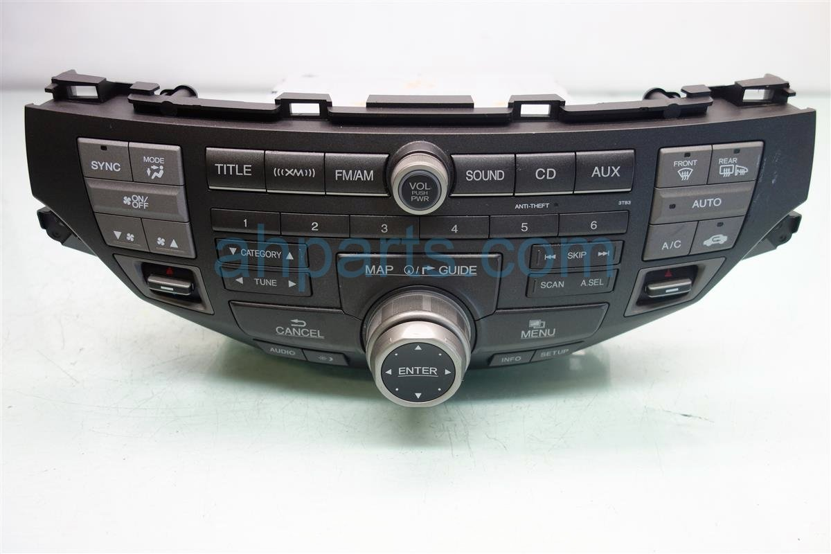 2012 Honda Accord Am/fm/cd Radio 39170 TE0 L62ZA Replacement